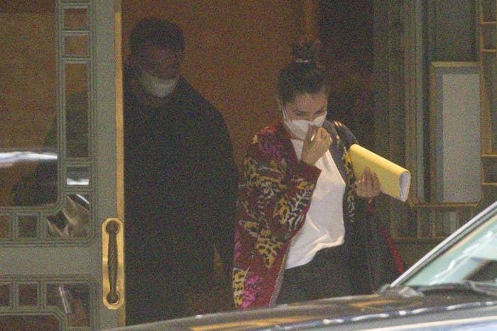 Ben Affleck and Ana De Armas seen leaving their hotel on November 22, 2020 in New Orleans, Louisiana