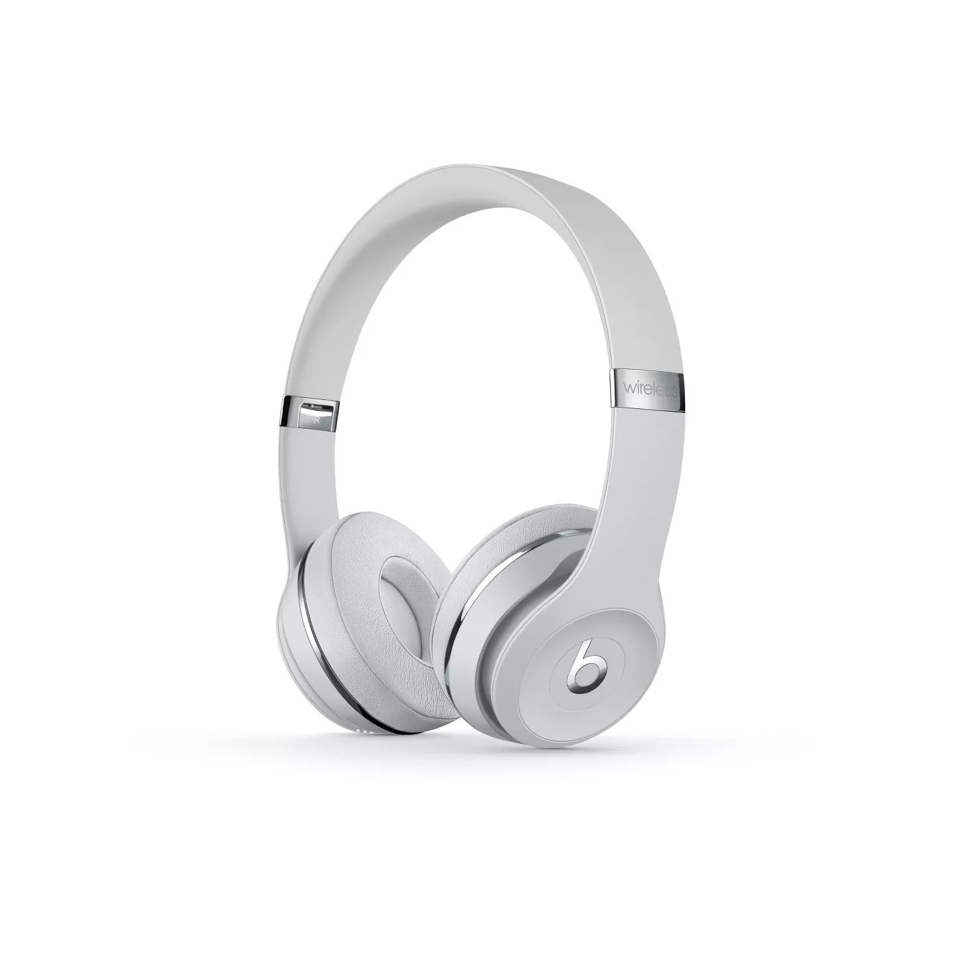 The headphones in satin silver