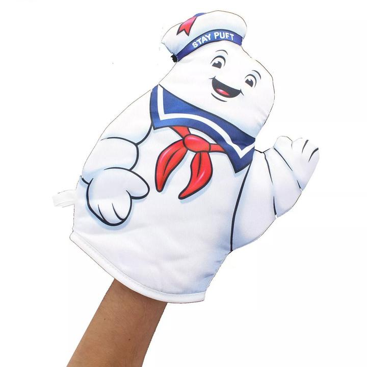 marshmallow man oven mitt