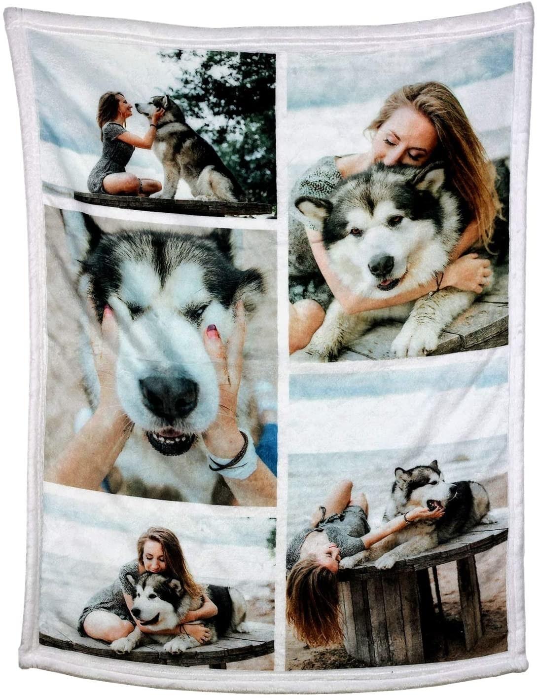 The custom photo blanket