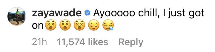 "Zaya said ""Ayooooo chill, i just got on"" three face emojis with an X over the eyes, and a crying emoji"