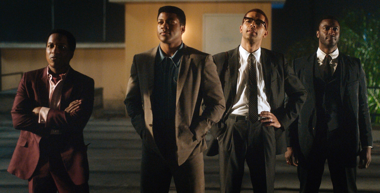 Leslie Odom Jr. as Sam Cooke, Eli Goree as Muhammad Ali, Kingsley Ben-Adir as Malcolm X, and Aldis Hodge as Jim Brown