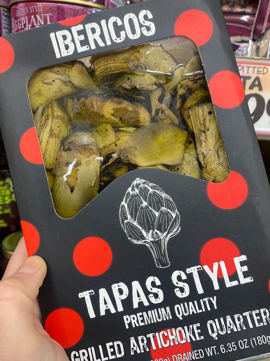 Tapas Style Grilled Artichoke Quarters