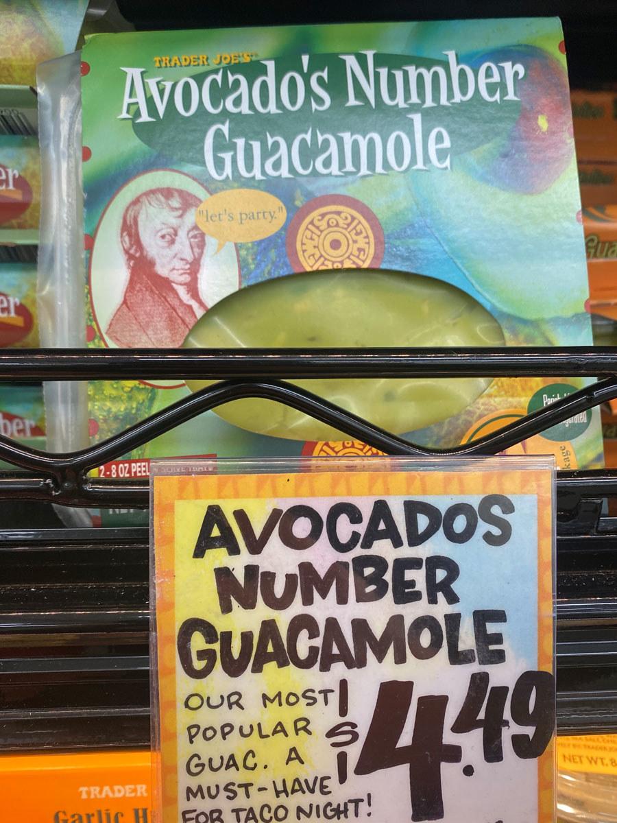 Avocado's Number Guacamole