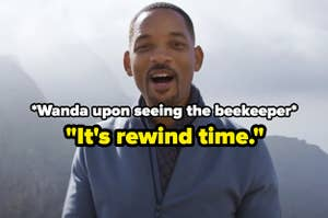 Will Smith in the 2018 YouTube rewind with text reading