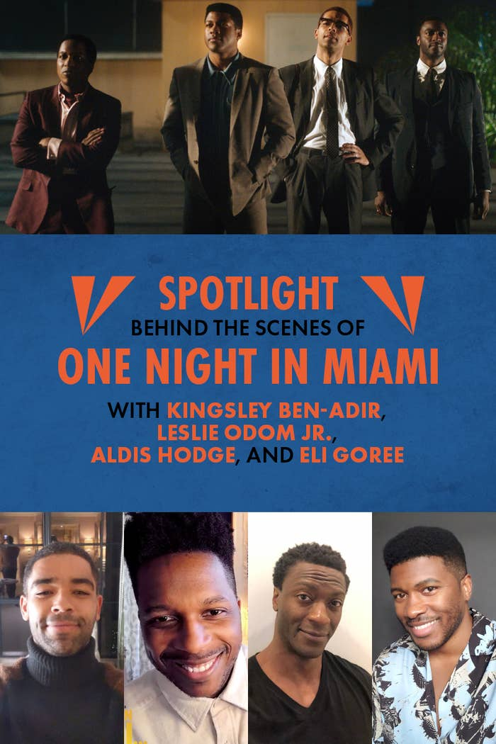 """Spotlight interview with the cast of """"One Night in Miami"""""""