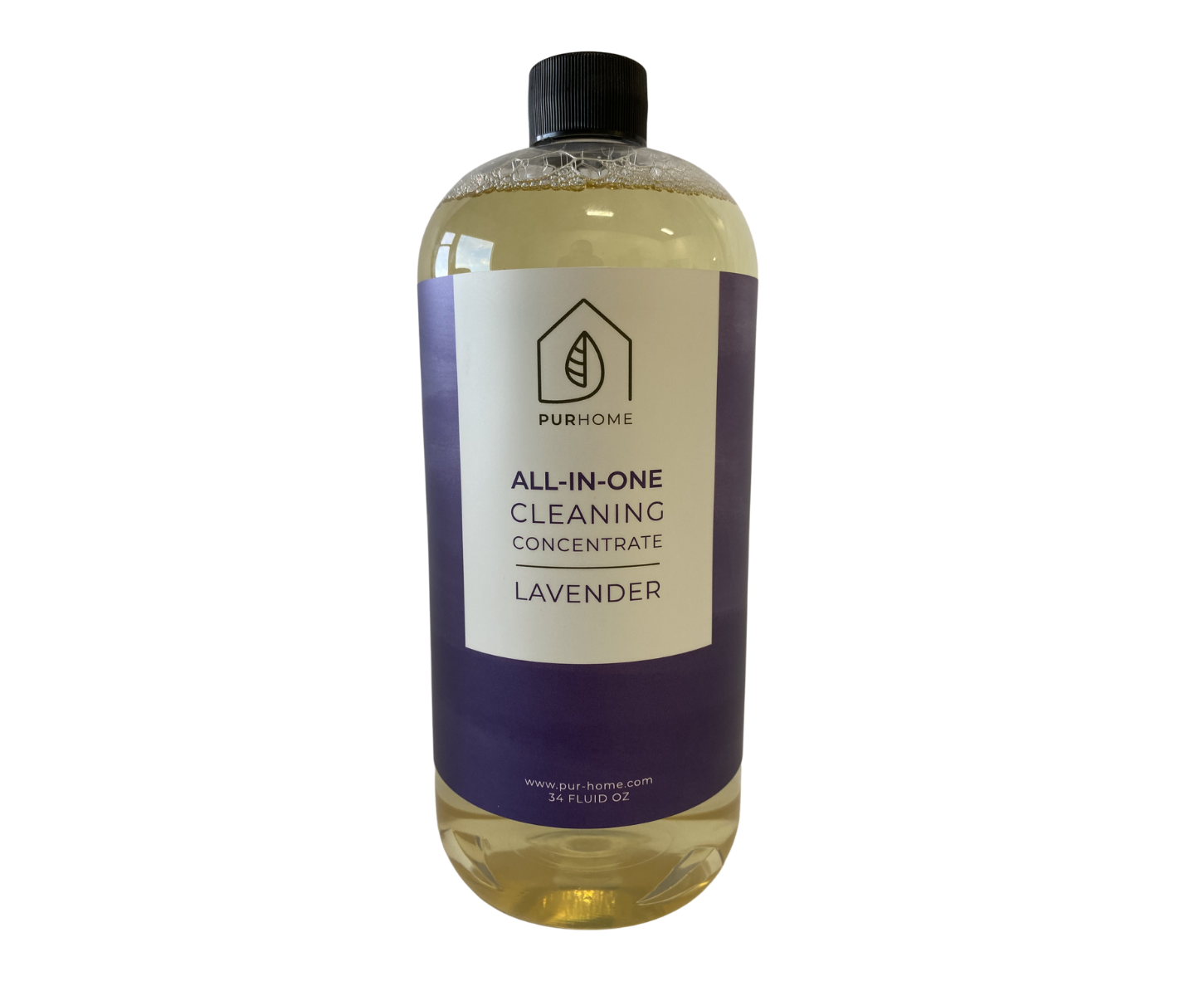 The bottle of lavender-scented cleaner