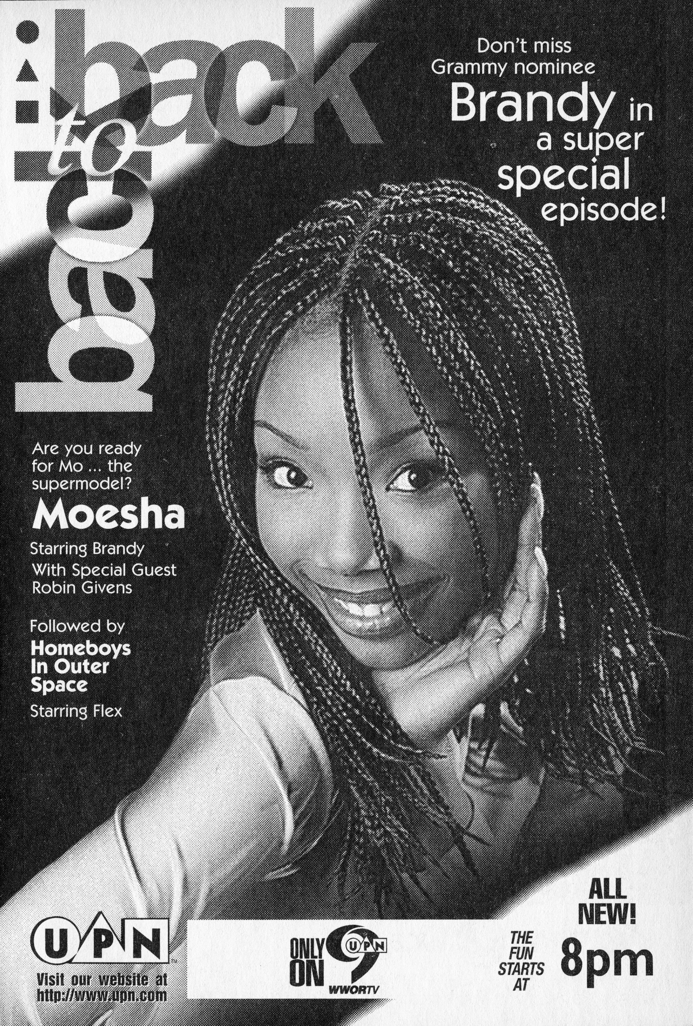 Ad that appeared in TV Guide in the February 15, 1997 for Moesha