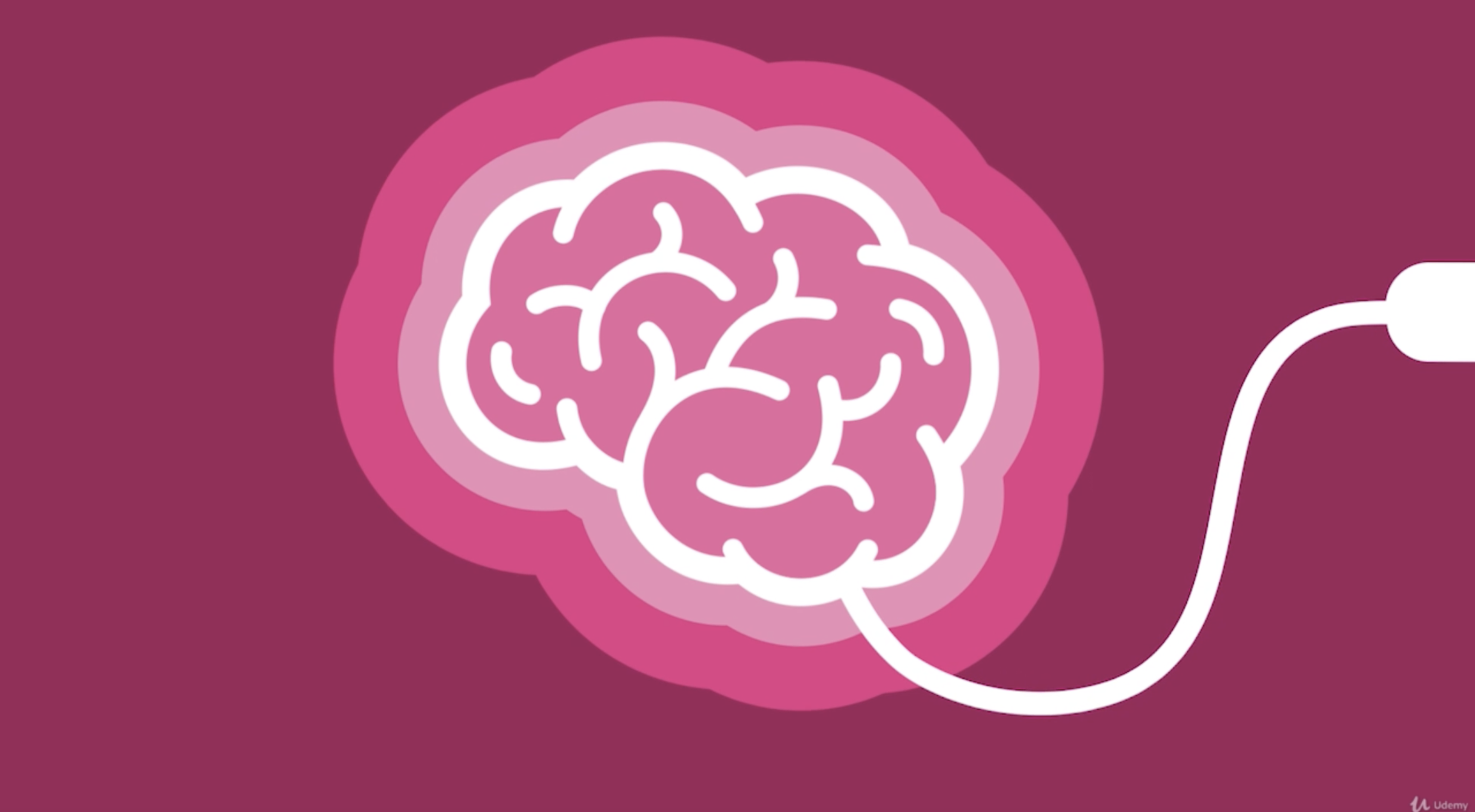 an animation of a brain plugging into an outlet
