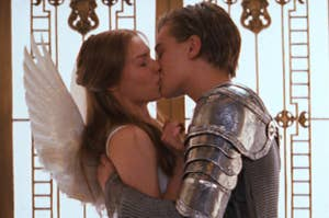 Romeo and Juliet kissing