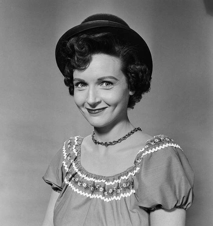 A young Betty White posing for a photo