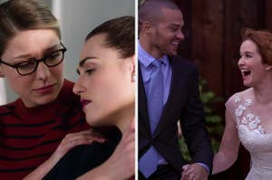 Kara and Lena from Supergirl and Jackson and April from Grey's Anatomy