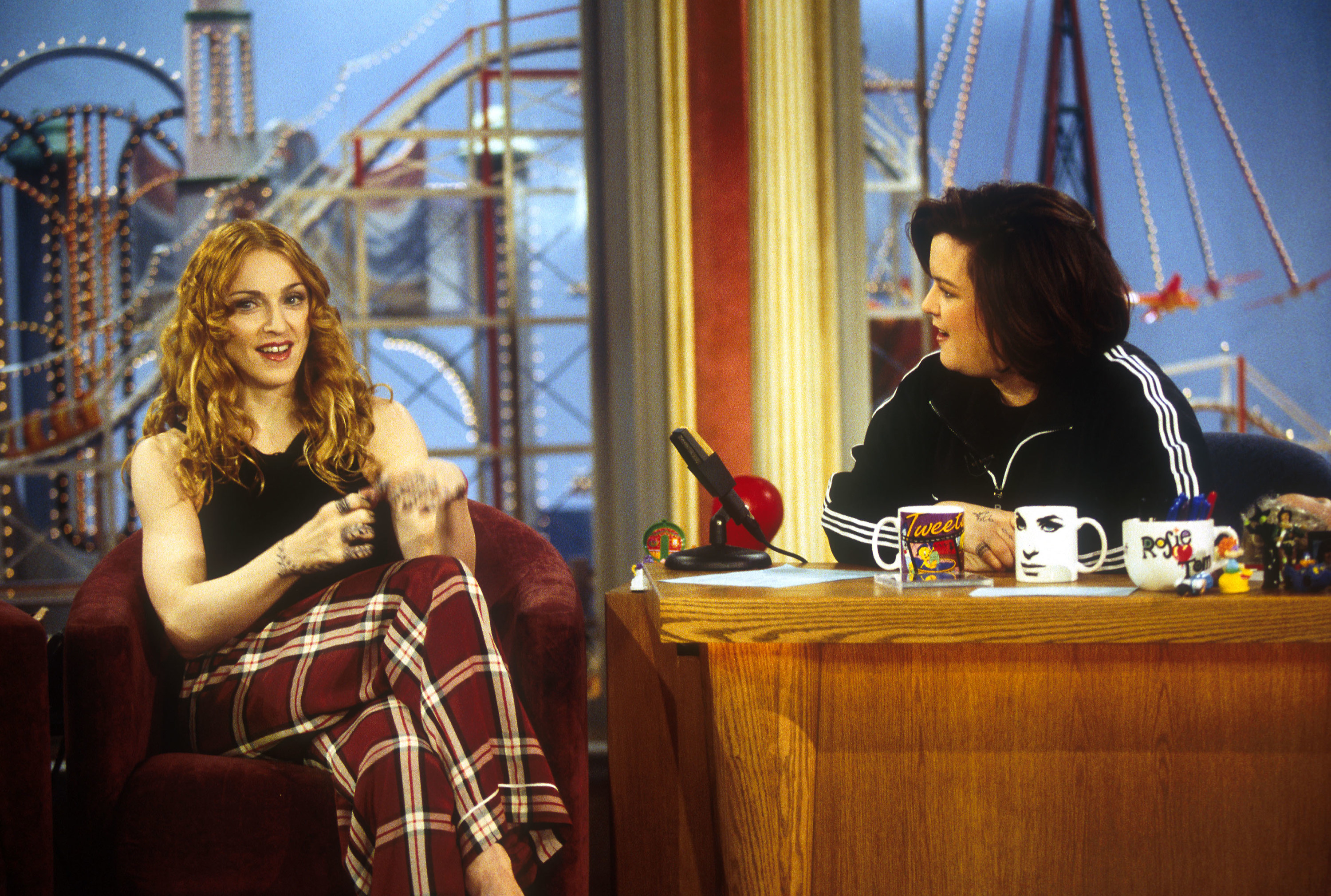 Rosie O'Donnell interviewing Madonna on her show