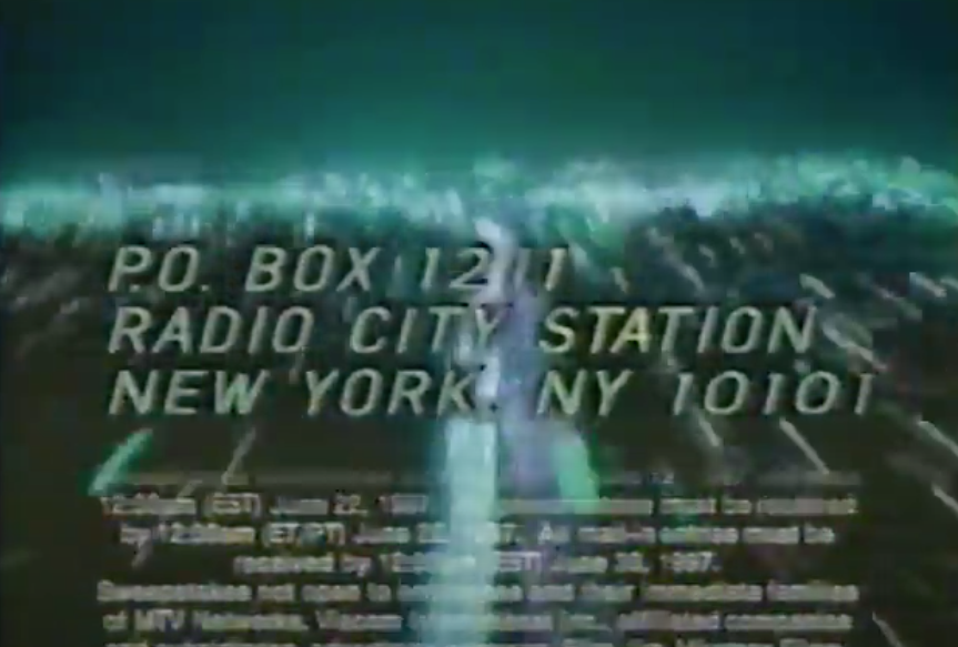 A screenshot of a New York PO Box for a contest