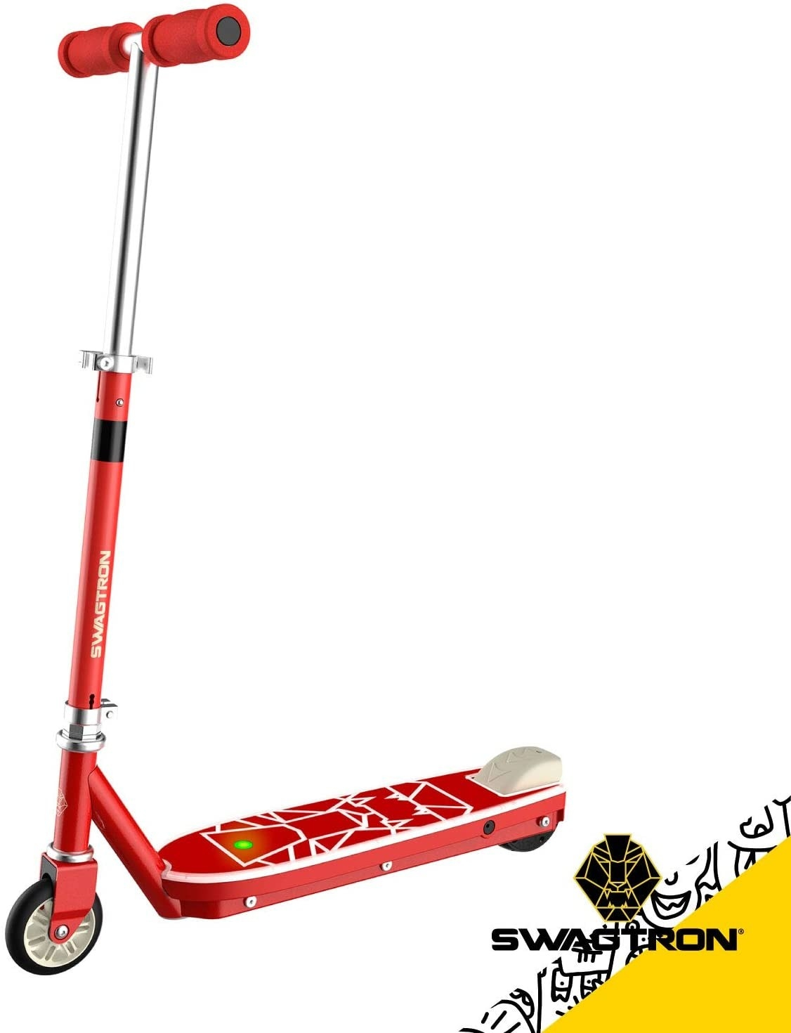 The red scooter