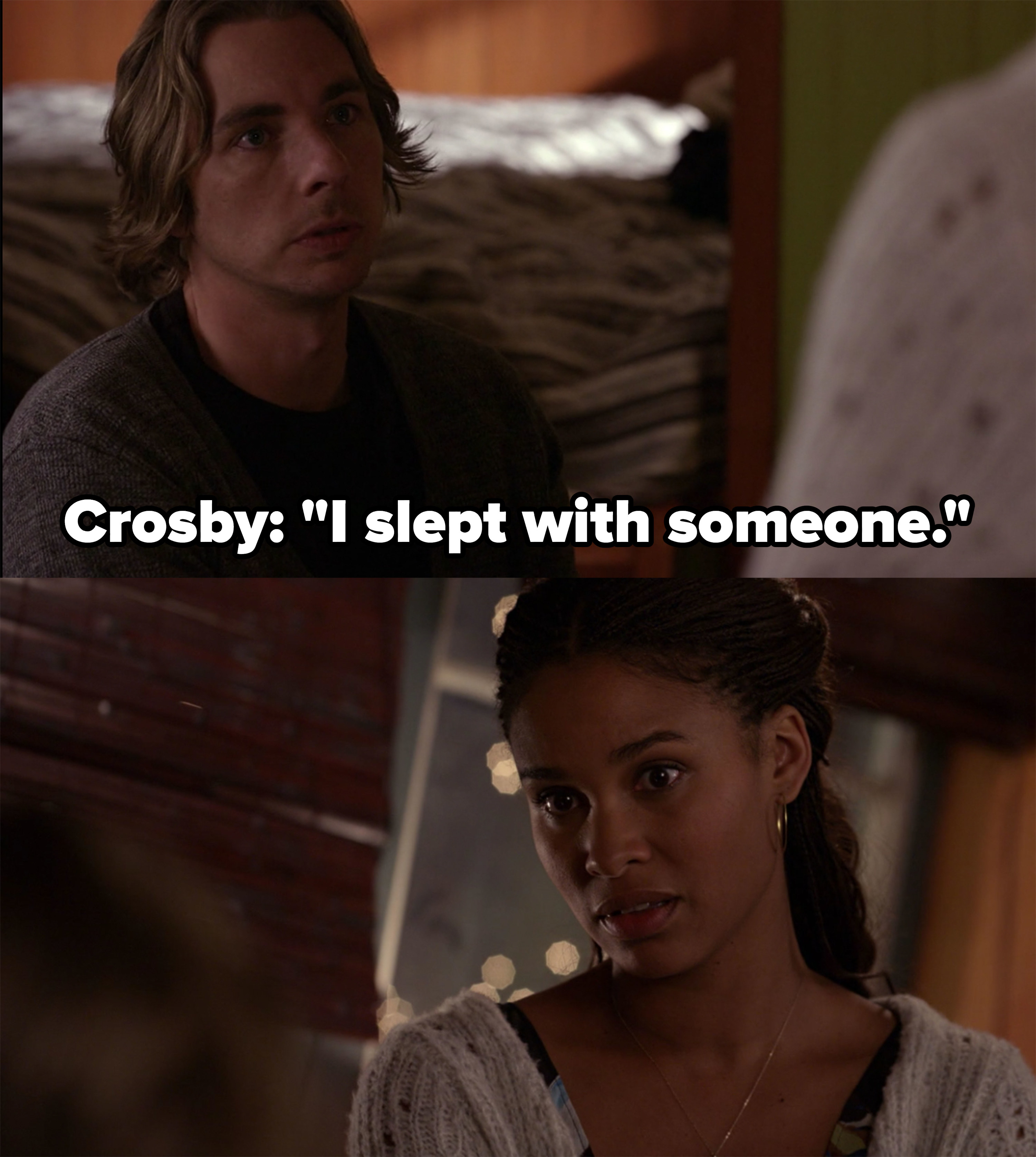 Crosby tells Jasmine he slept with someone else