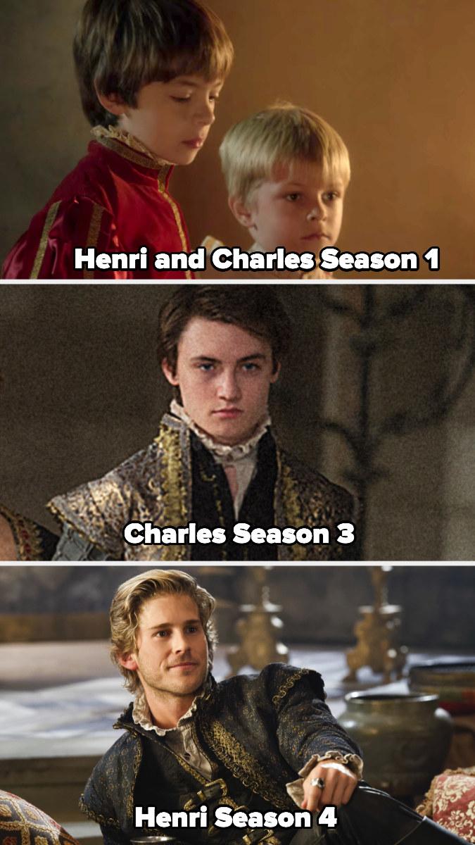 Henri and Charles as kids in season 1, then Charles as a full adult in Season 3 and Henri as an adult in Season 4
