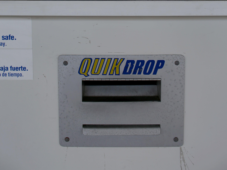 A quick drop slot at a Blockbuster