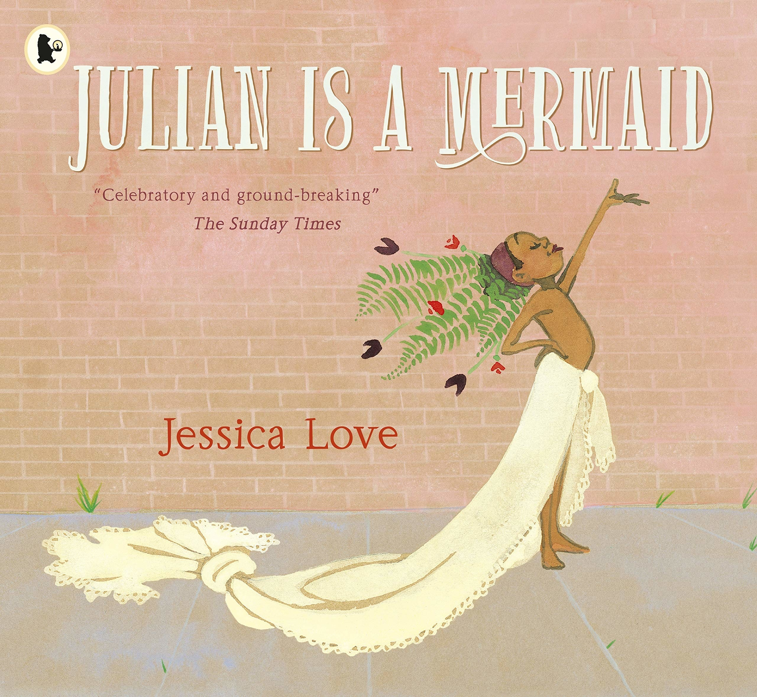 Cover of Julian is a mermaid, in which Julian ties fabric around his waist