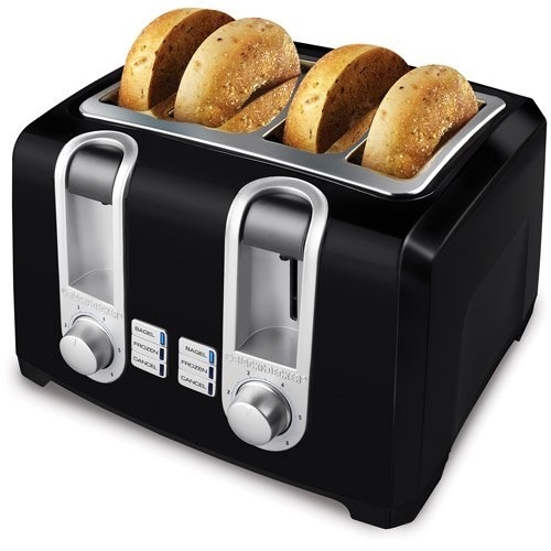 The toaster with bagels inside