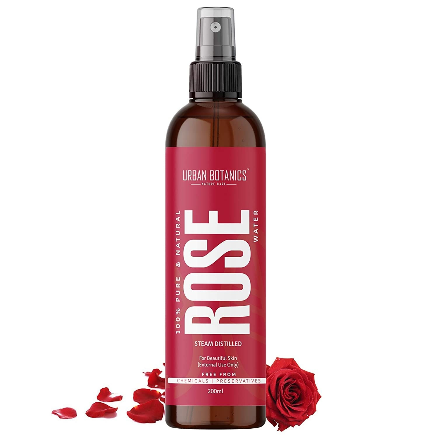Bottle of the rose water spray