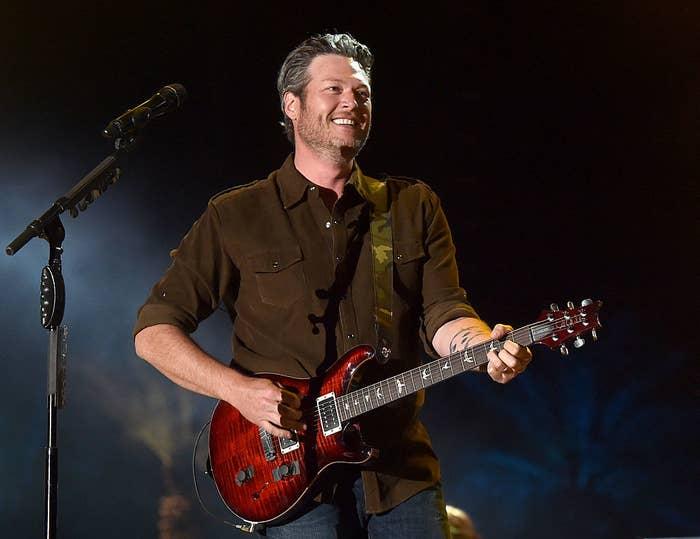 Blake performing