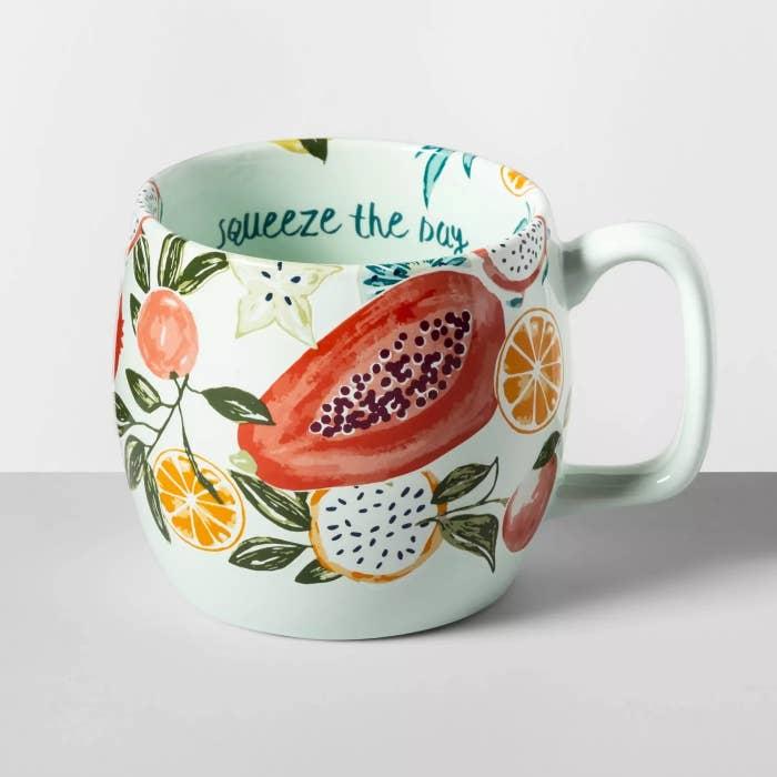A close-up of the mug