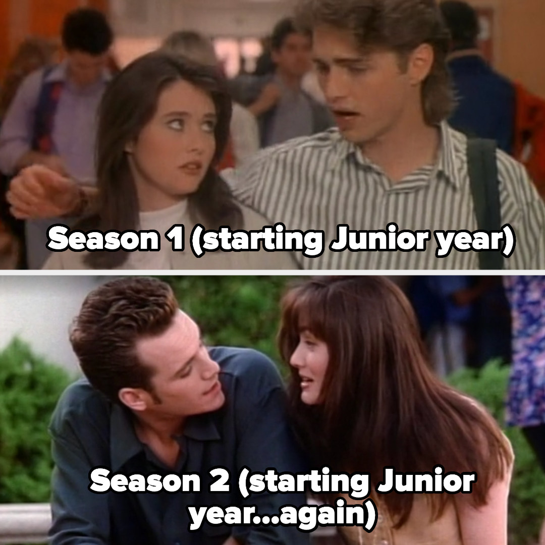 the characters starting their junior years in Season 1 and 2
