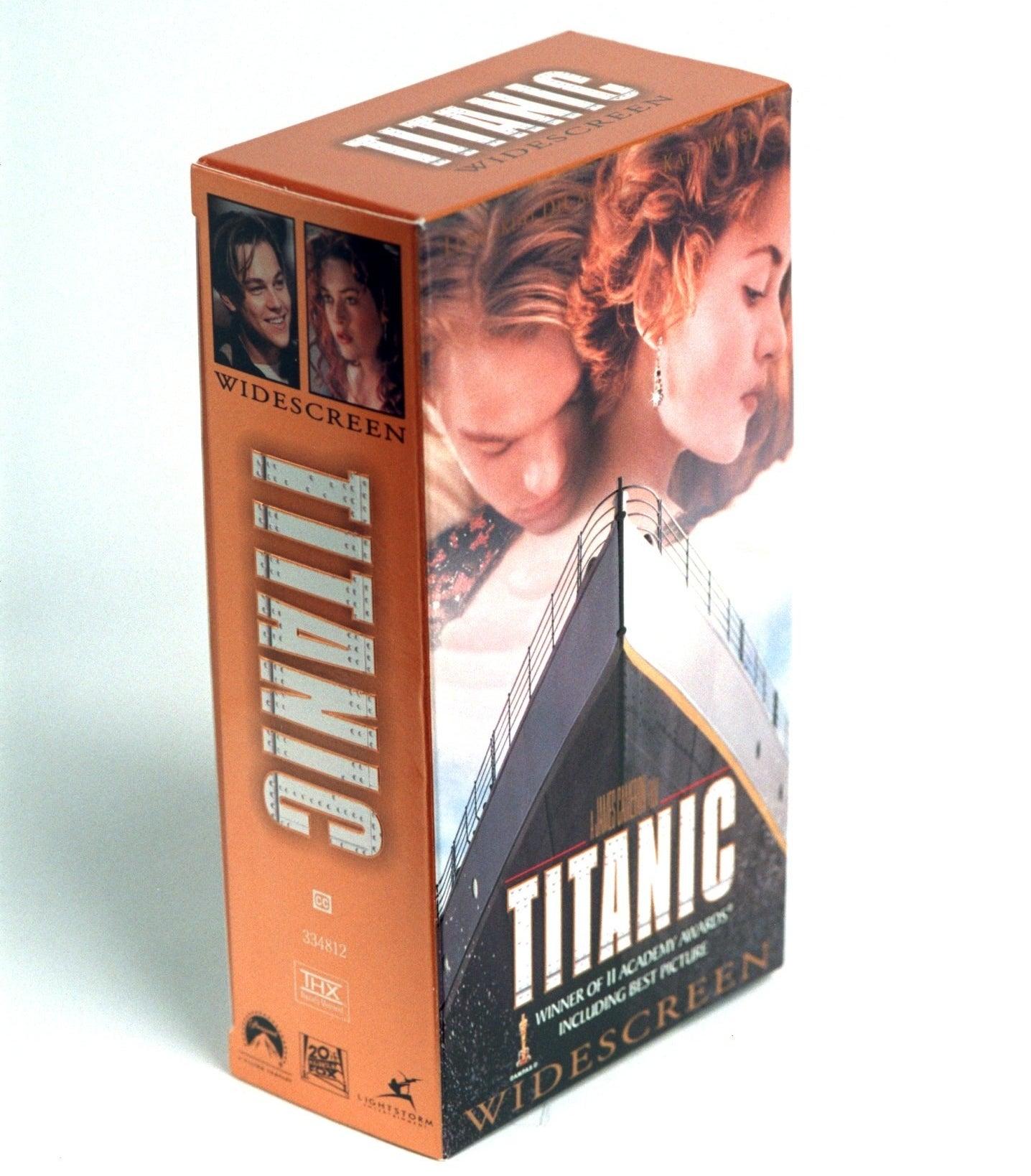 A VHS copy of Titanic