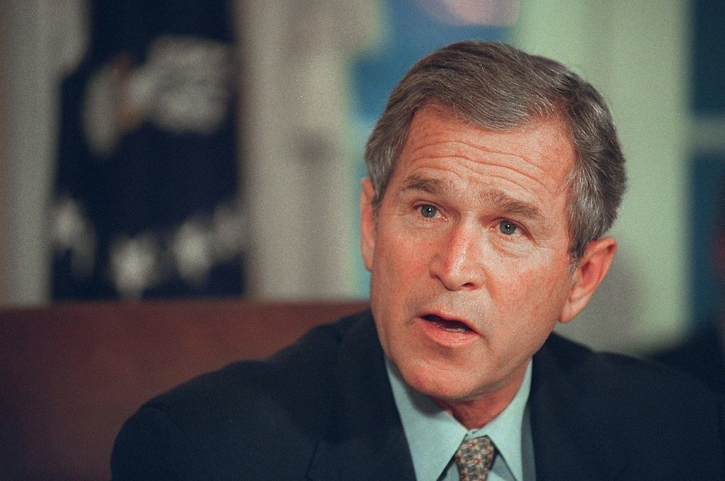 Bush with some gray hair