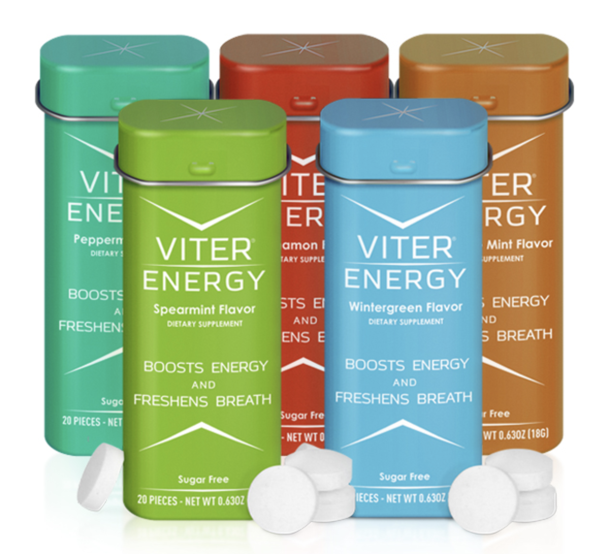 the variety pack of viter energy caffeinated mints