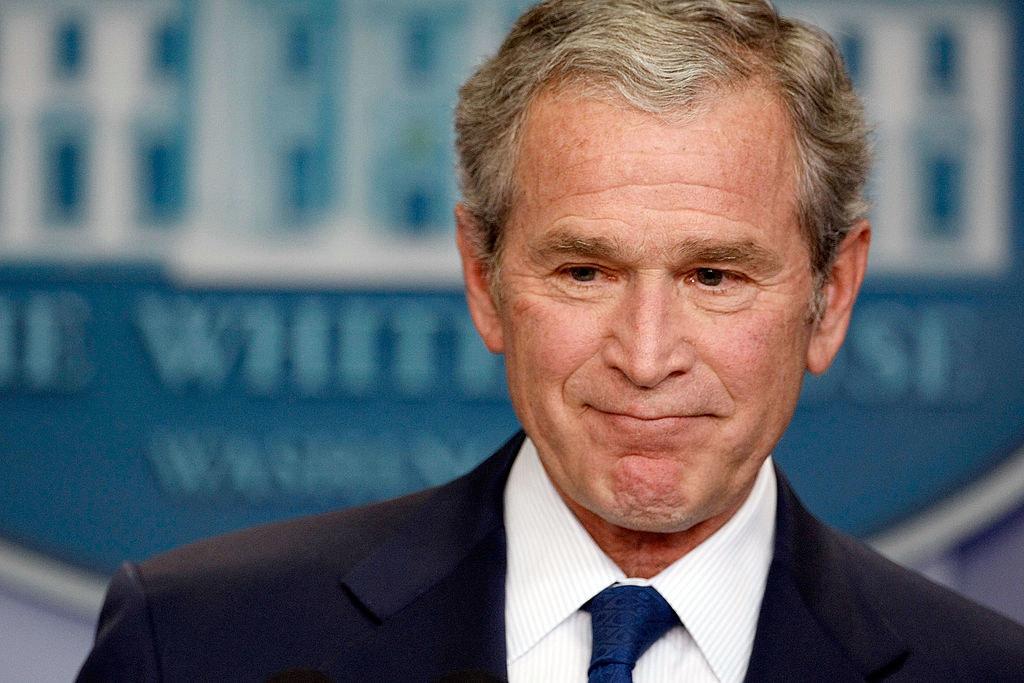 Bush with more gray hair