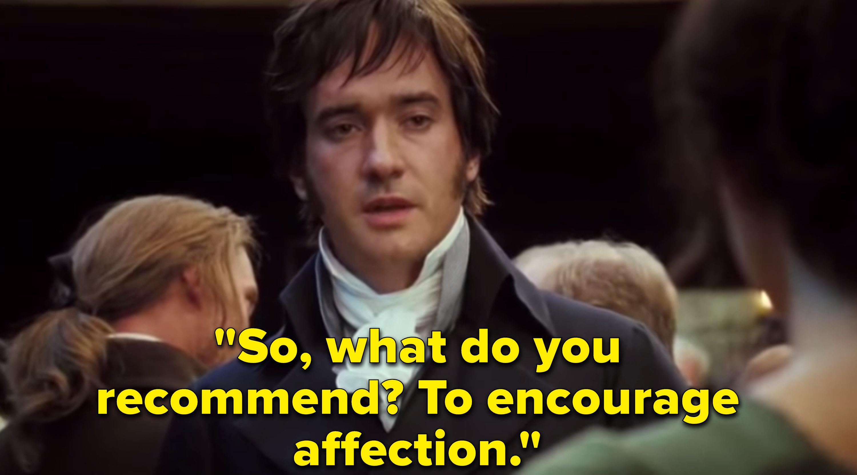 "Matthew McFadyen as Mr. Darcy in the movie ""Pride & Prejudice."""