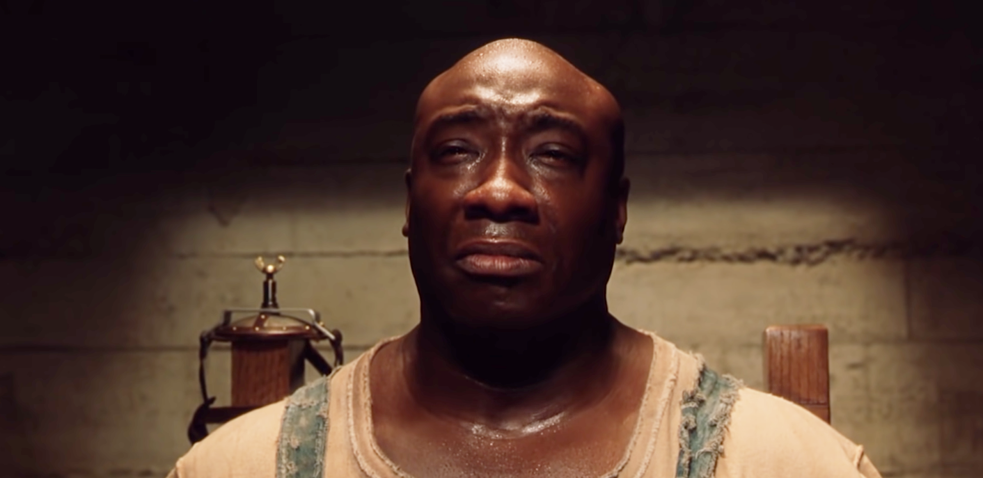 """Michael Clarke Duncan as John Coffey in the movie """"The Green Mile."""""""