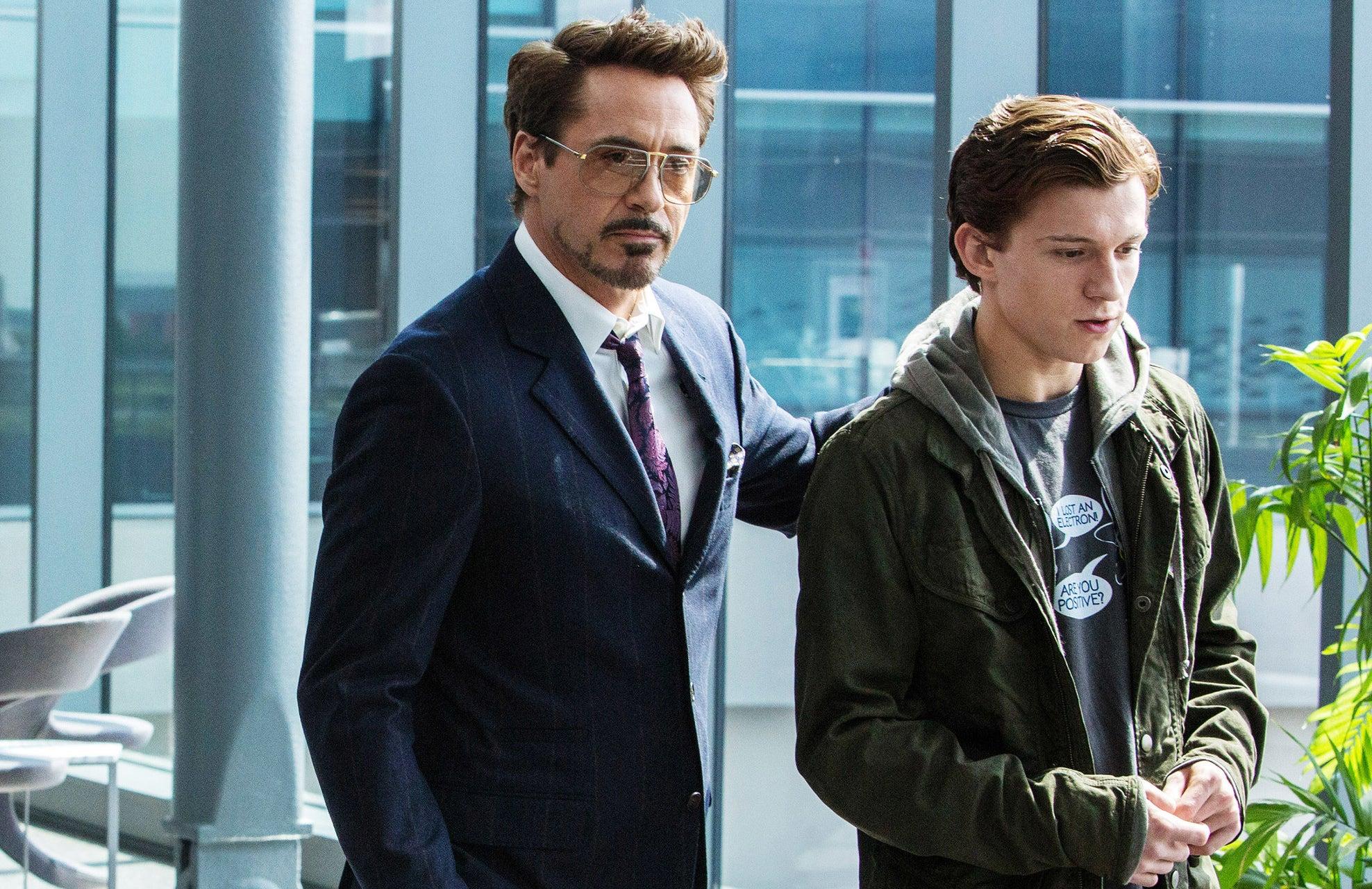 Robert Downey Jr. and Tom Holland
