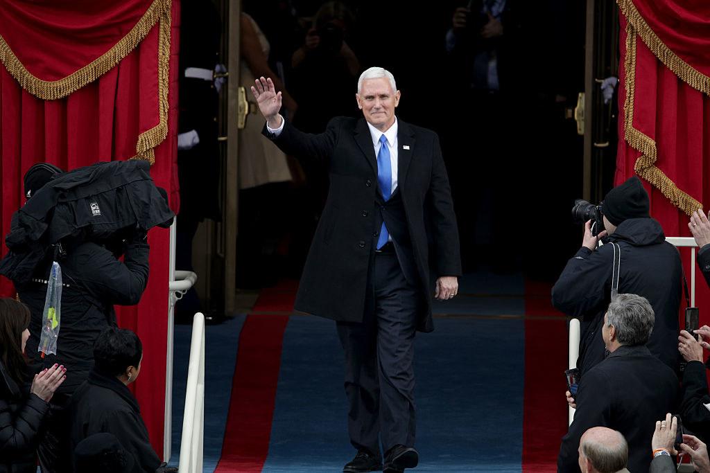Former Vice President waving