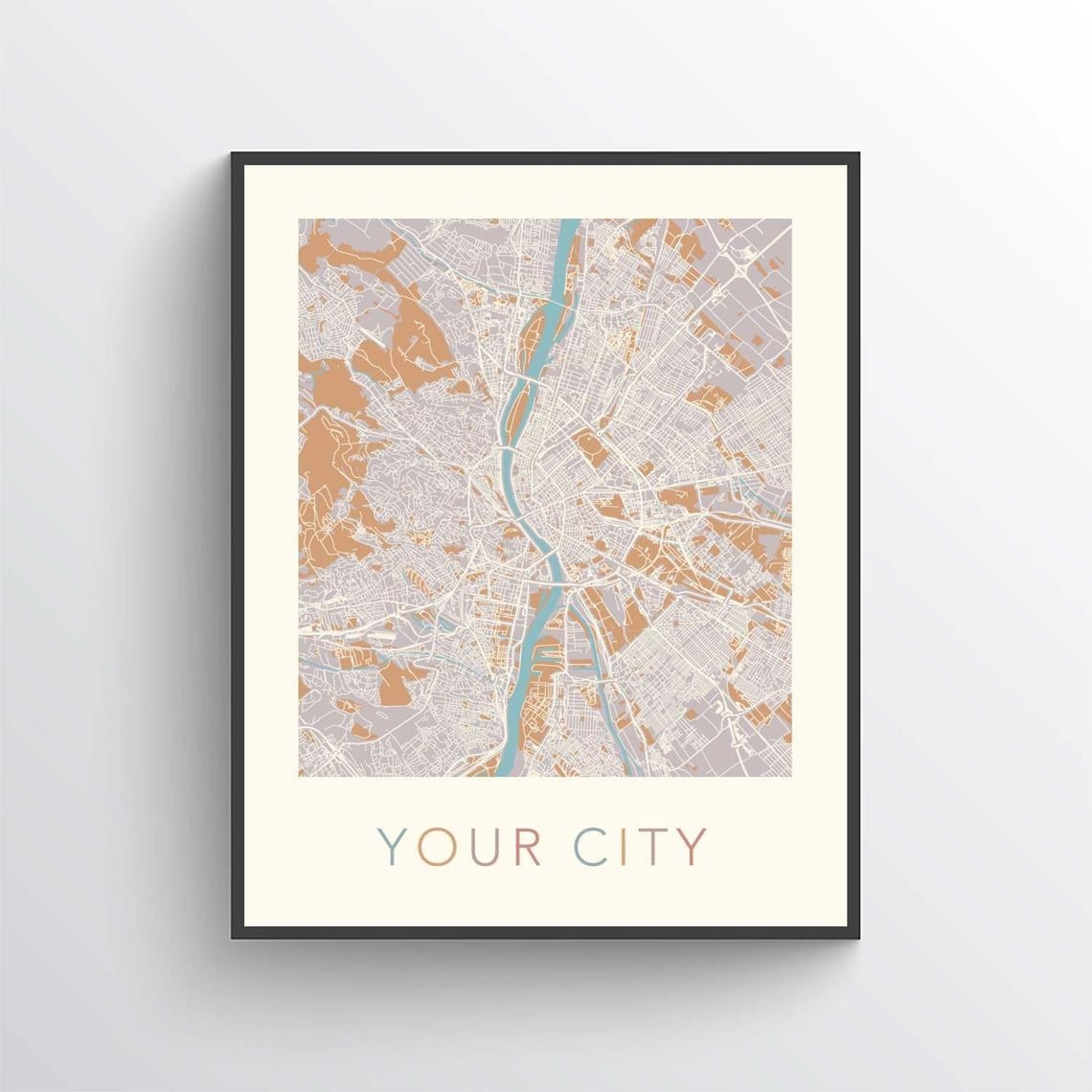 An example of the custom map print