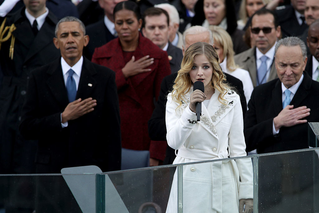 Jackie Evancho singing the National Anthem