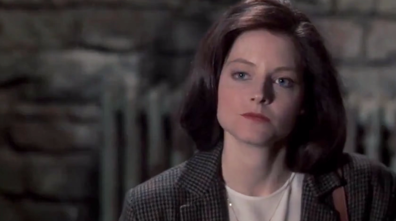 """Jodie Foster as Clarice Starling in the movie """"The Silence of the Lambs."""""""
