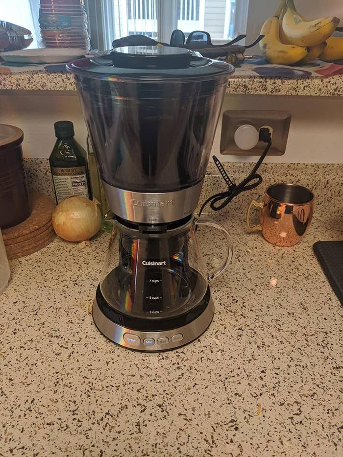 reviewer's cold brew maker on their counter