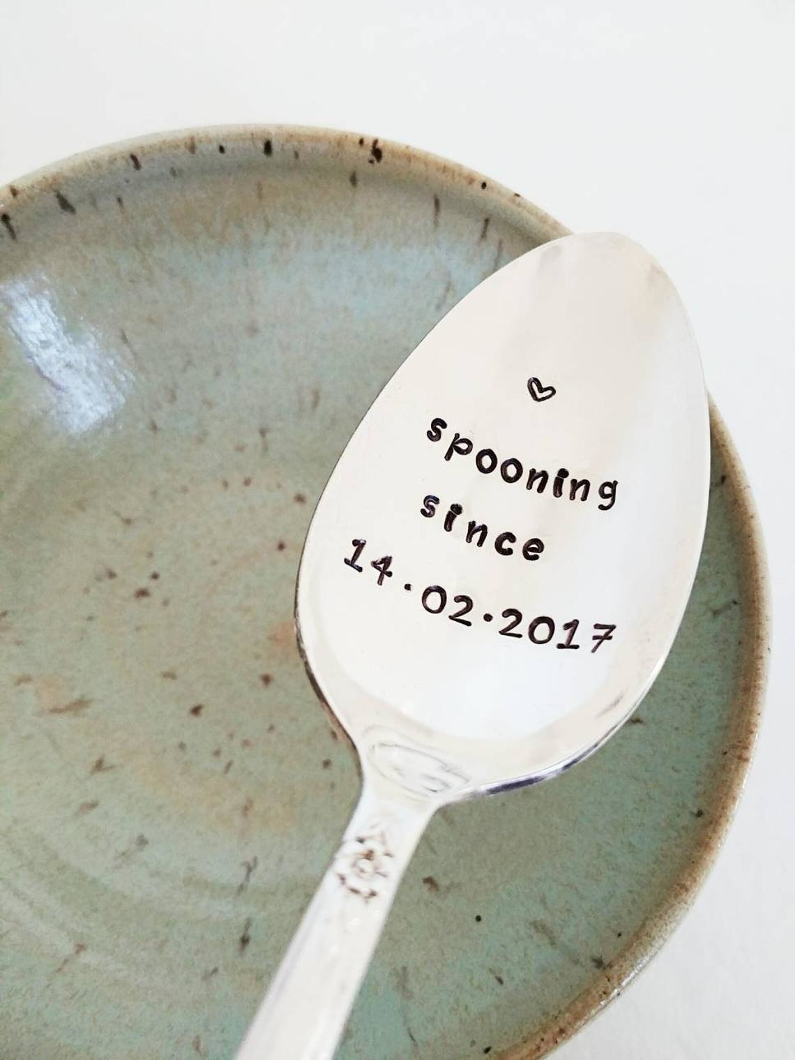 A spoon that says spooning since 14-02-2017
