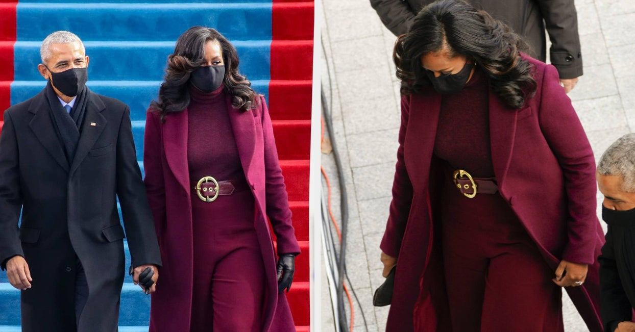 Michelle Obama's Showed Up To The Inauguration In A Plum Suit And Everyone Is Obsessed