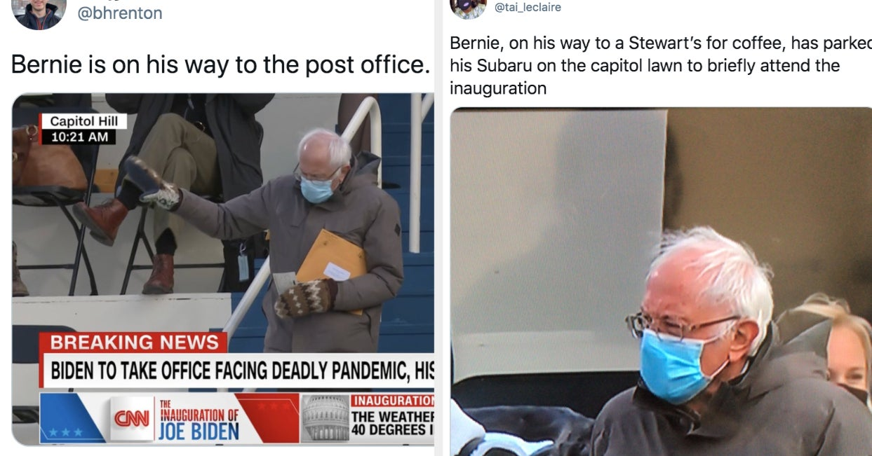 Bernie Sanders Became A Meme Because He Showed Up To The Inauguration Dressed So Practically