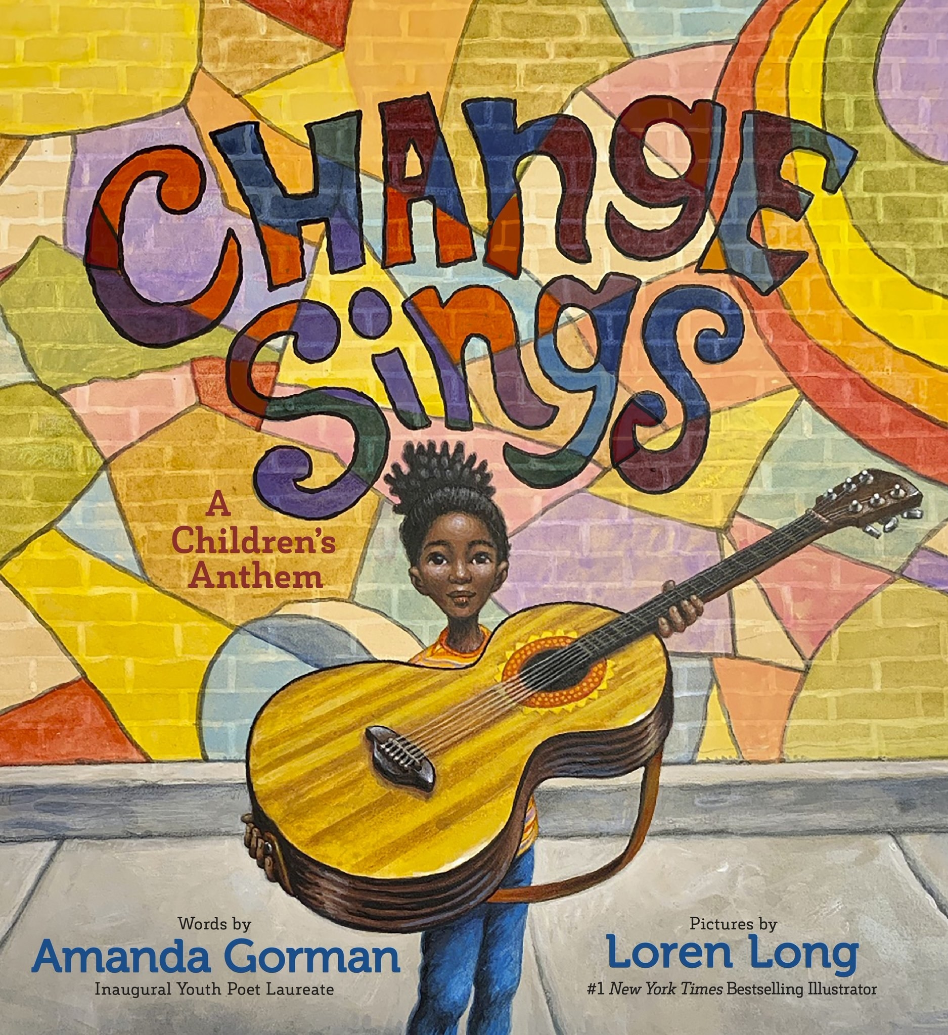 The cover of the book features an Black girl holding a large guitar