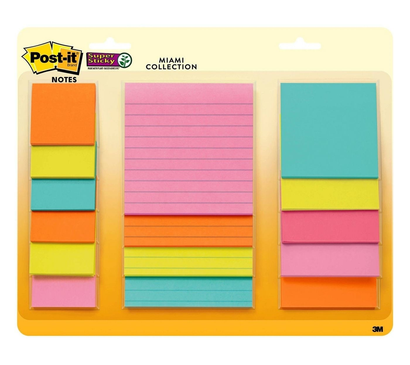 the Miami Collection Post-it 15 count Super Sticky Notes Pack