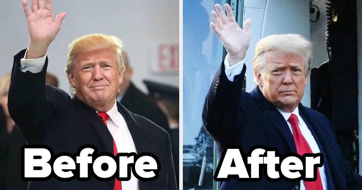 These Before And After Photos Show How Much Trump Aged While He Was President