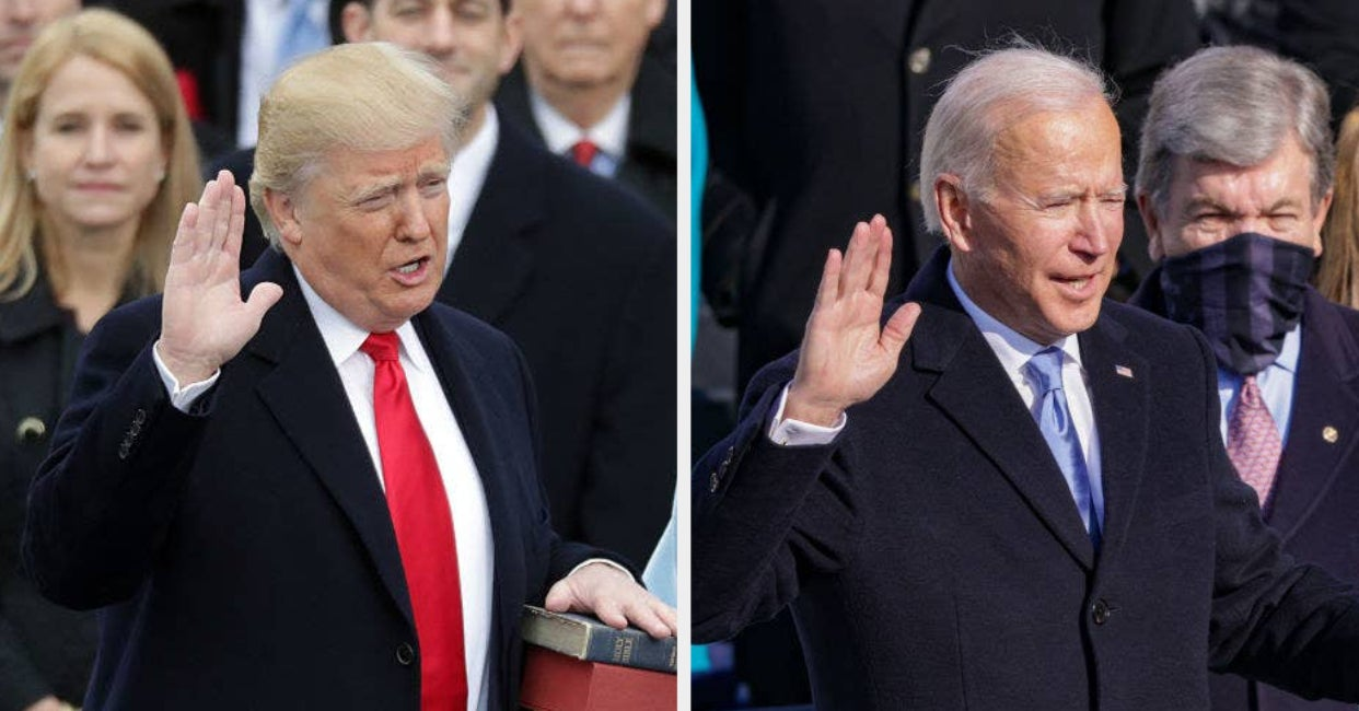 28 Photos That Show The Differences Between Trump And Biden's Inaugurations