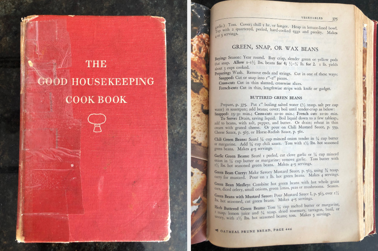 """A torn copy of """"The Good Housekeeping Cook Book"""""""