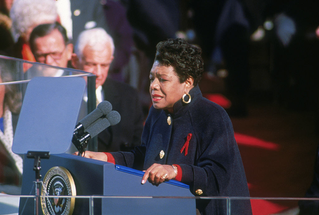 Maya Angelou reading her poem at Bill Clinton's inauguration in 1993