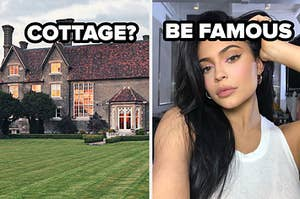 cottage style house? you'll be famous with selfie of kylie jenner